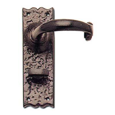 Wessex Door Handle Lever Lock Latch Black Antique Plate  - S...