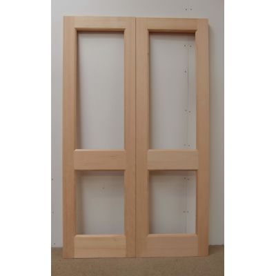 French Door Pair External Timber Wooden Hemlock 2XGG Rebated...