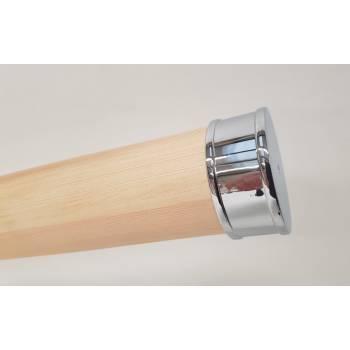 Chrome Silver Effect Stair End Cap 54mm Round Handrail Mopstick RHR02S Endcap