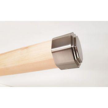 Octagonal Brushed Nickel Stair End Cap 54mm Round Handrail Mopstick RHR05BN
