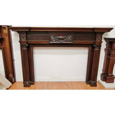 Solid Mahogany Fire Surround Fireplace Beautiful 1460x2290mm...