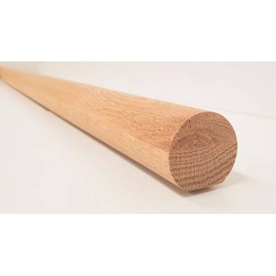 Oak Mopstick Round Stair Staircase Handrail 1.8m 44mm Diamet...