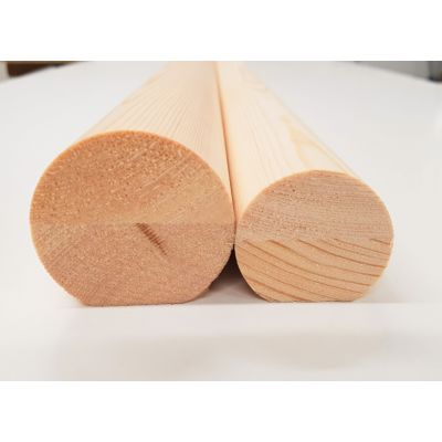 Pine Mopstick & Brackets