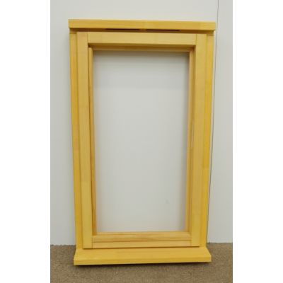 Wooden Timber Window Plain Casement Unglazed Softwood Jeld-wen 625mm and 483mm - Window Option: