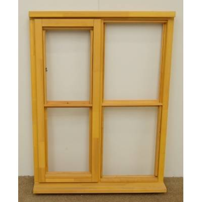 Wooden Timber Window Horizontal Centre Bar Casement Unglazed...