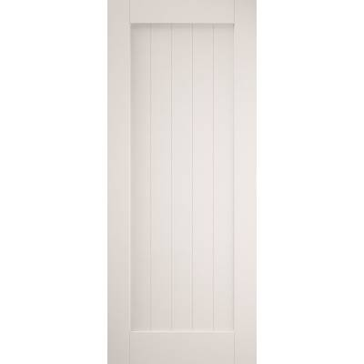 Primed Cottage Sliding Barn Door White Primed Grange Wooden ...