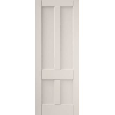 White 4 Panel Interior Door Clear Glazed Deco Timber Wooden ...