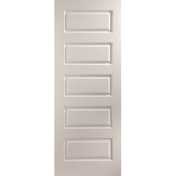 Rockport Painted Interior Door 5 Panel Stone Grey True Colour Wooden Timber