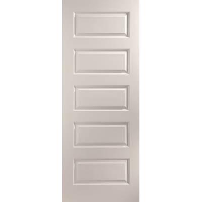 Rockport Painted Interior Door 5 Panel Stone Grey True Colour Wooden Timber  - Door Size HxW:
