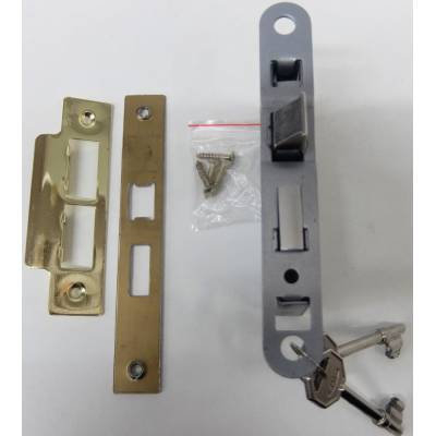 Brass 3 Lever Sashlock Brass Effect Door Bathroom Key Intern...