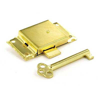 Cupboard Lock Brass Key Security Cabinet Drawer Wardrobe Doo...