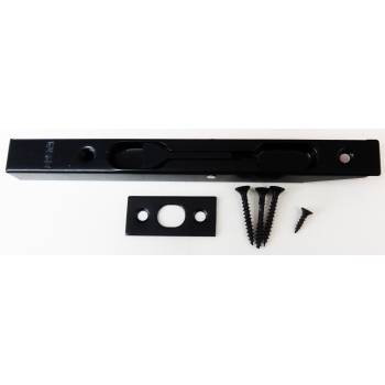 Black Flush Bolt Door Lever Action Rebated Security French Doors 160mm