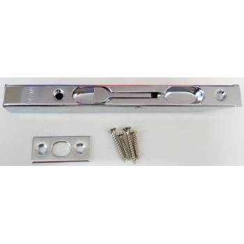 Chrome Flush Bolt Silver Door Lever Action Rebated Security French Doors 160mm