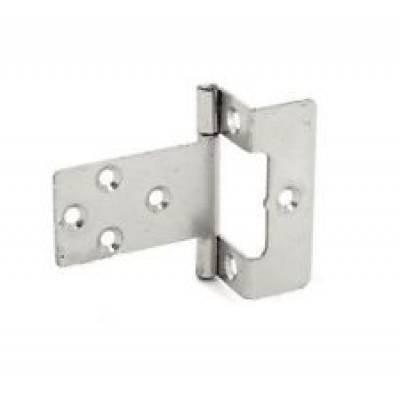 Zinc Plated Cranked Flush Hinges Pair Door Cupboard Cabinet ...