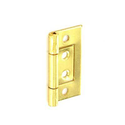 Brass Plated Flush Door Hinge Pair Cabinet Wardrobe Options ...