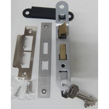 Chrome Effect 3 Lever Sashlock Door Bathroom Key Internal Latch