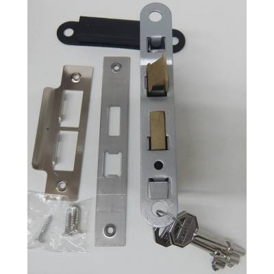 Chrome Effect 3 Lever Sashlock Door Bathroom Key Internal La...