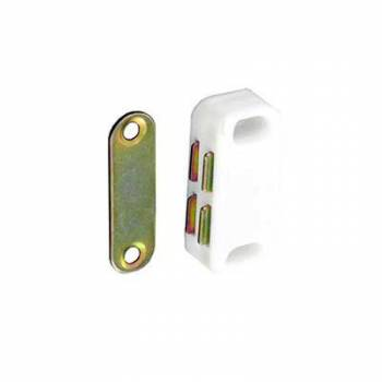 Magnetic Catch White Cupboard Kitchen Bathroom Camper Door 40mm