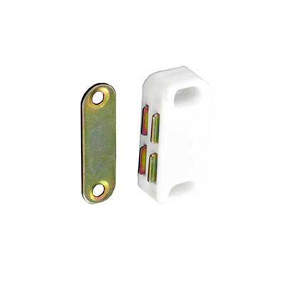 Magnetic Catch White Cupboard Kitchen Bathroom Camper Door 4...