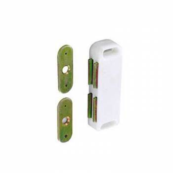 Magnetic Catch Twin White Cupboard Kitchen Bathroom Camper Door 65mm