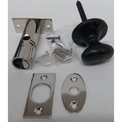 Rack Bolt Black Security Thumb Turn Lock Star Door Key Priva...