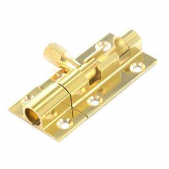 Brass Door Bolt Finish Security Lock Home Bathroom Bedroom 1""