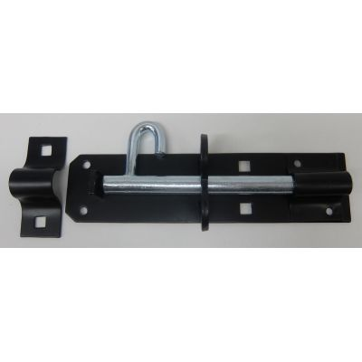Padbolt Brenton Powder Coated Black Padlock Medium 6inch Gat...