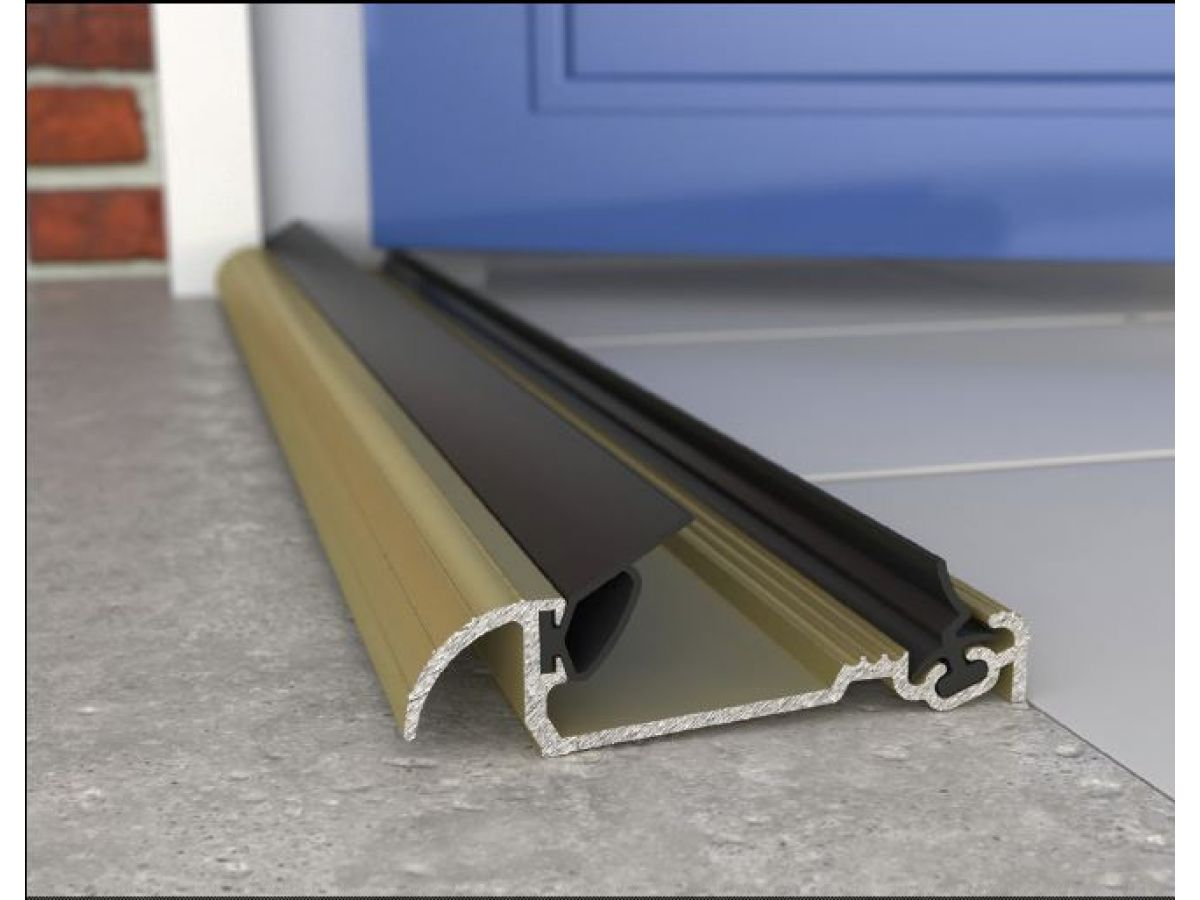 Inward Opening Exitex Stormguard Sill 18m French Door Pair Gold