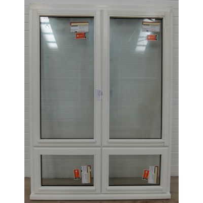 Wooden Timber Window Stormproof Casement White 1345x1800mm H...