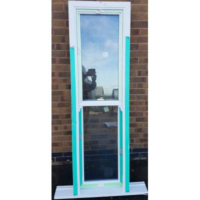 PVC Sliding Sash Window White Glazed 580x1940mm PL03 (625X14...