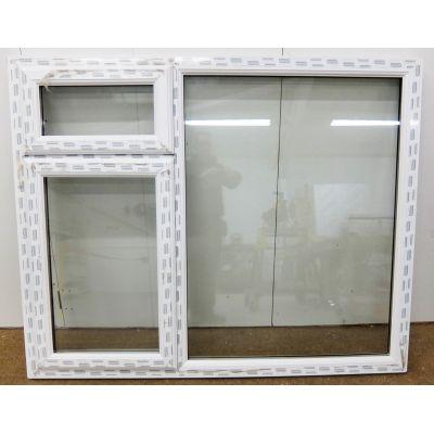 White PVC Window Stormproof Double Glazed UPVC 1360x1650mm P...