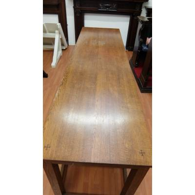 Table Oak Side Serving Communion Solid 3050x830mm Church Cha...