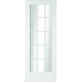 Primed SA77 15 Light Clear Glazed Interior Door