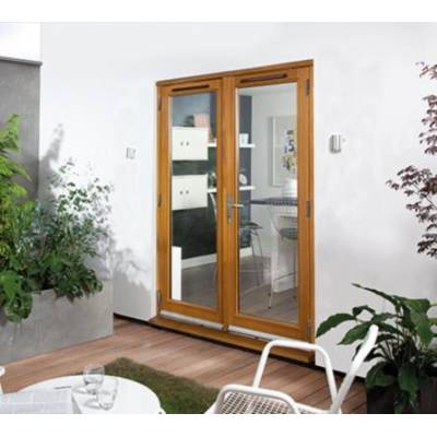 Oak Canberra External Glazed French Doors Wooden Timber - Si...