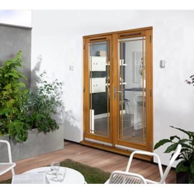 Oak Canberra Marginal Bar External Glazed French Doors Woode...