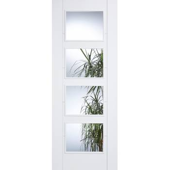 White Vancouver Clear Glazed Fire Door