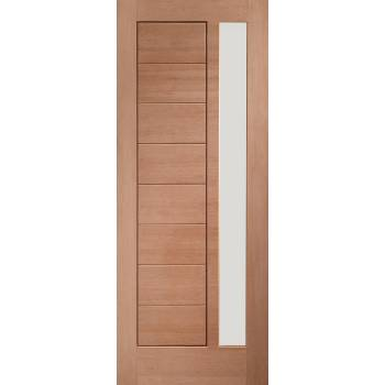 Hardwood Modena Glazed External Door Wooden Timber Unglazed