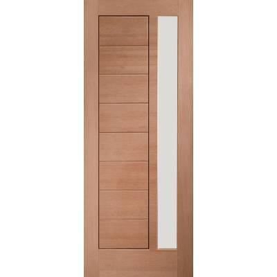 Hardwood Modena Glazed External Door Wooden Timber Unglazed