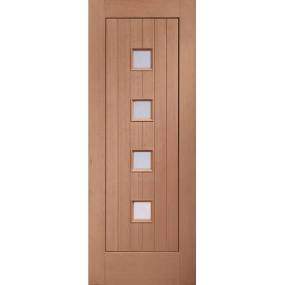 Hardwood Siena Glazed External Door Wooden Timber