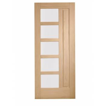 Oak Lucca External Door Wooden Double Glazed