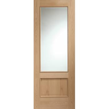 Oak Andria Clear Glazed Raised Moulding Internal Door Wooden Timber Interior
