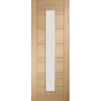 Oak Palermo 1 Light Glazed Fire Door Wooden Timber Interior