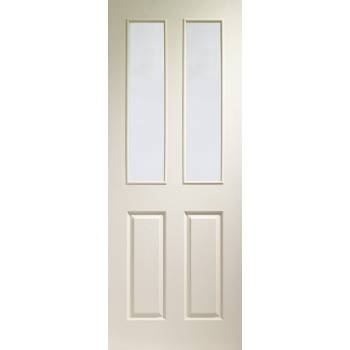 Victorian White Moulded Door Clear Glazed