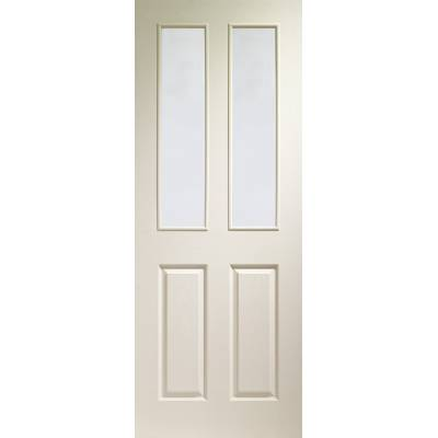 Victorian White Moulded Door Clear Glazed - Door Size, HxW: ...