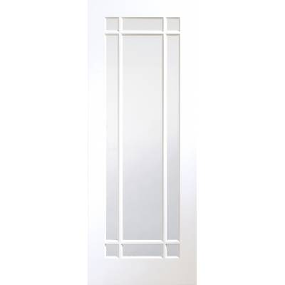 White Primed Cheshire Clear Glazed Panel Internal Door Inter...