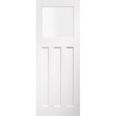 White Primed DX Obscure Glazed Internal Door Interior...