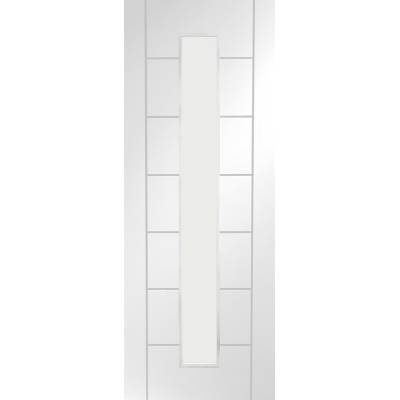 White Primed Palermo 1 Light Fire Door Internal Door Interio...