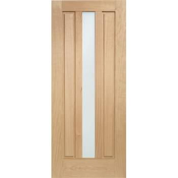 Oak Padova External Door Wooden Double Glazed
