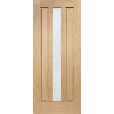 Oak Padova External Door Wooden Double Glazed