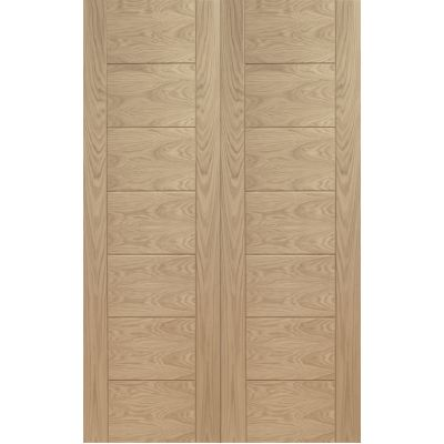 Oak Palermo Pair Door Pair Wooden Timber - Door Size, HxW: ...